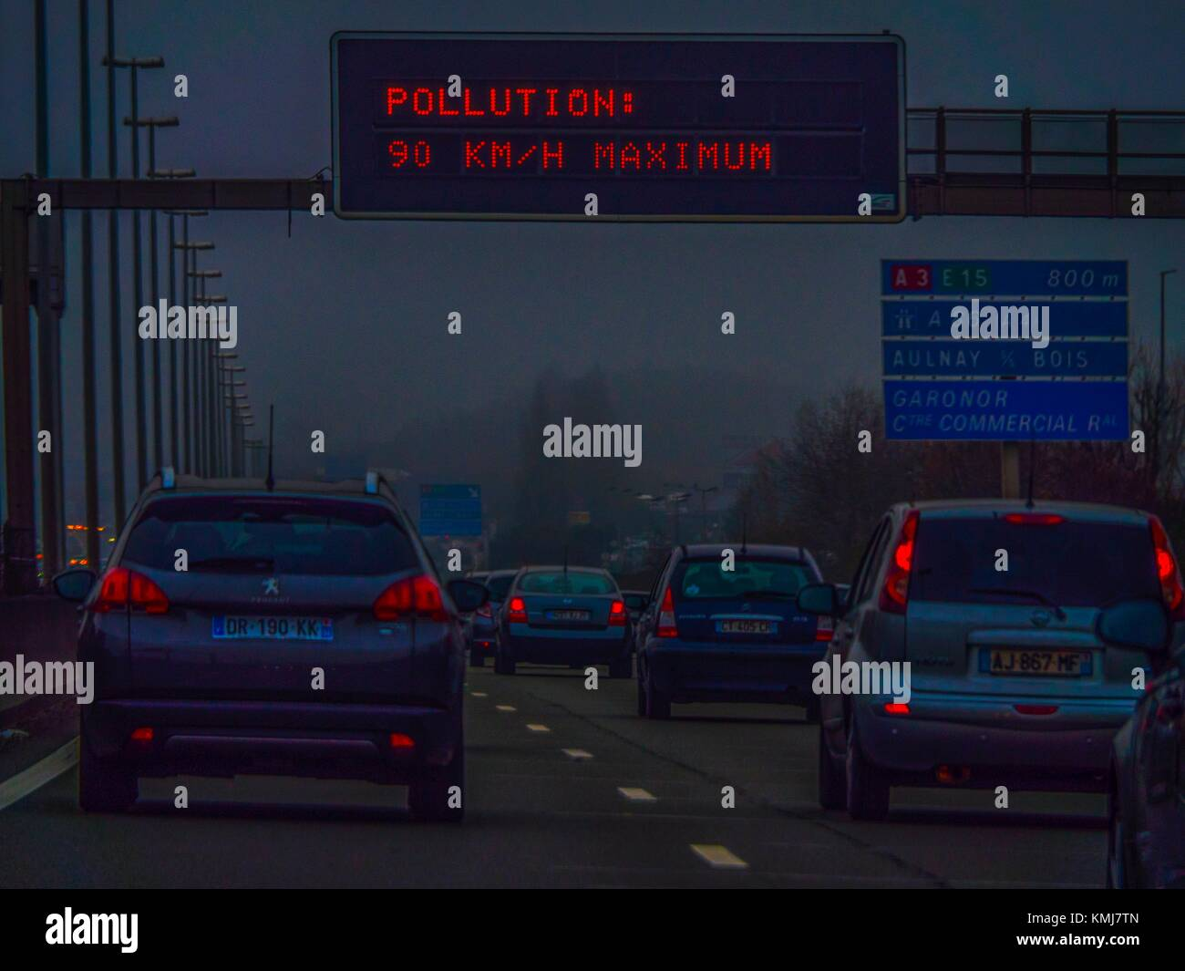 France. Paris. Pollution - Stock Image