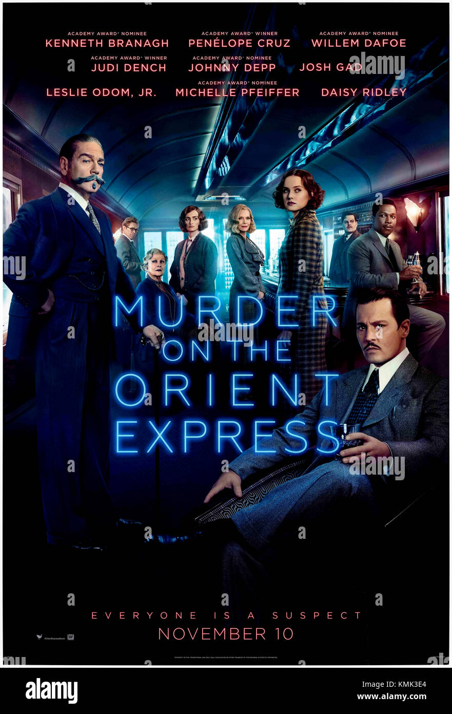 Murder on the Orient Express (2017) directed by Kenneth Branagh and starring Kenneth Branagh, Penélope Cruz, - Stock Image