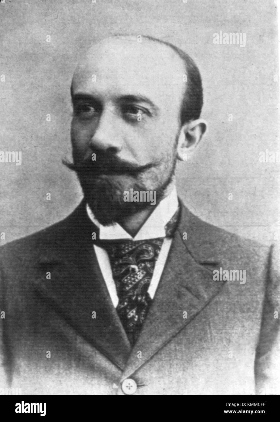 Georges Méliès, Marie-Georges-Jean Méliès, French illusionist and film director - Stock Image