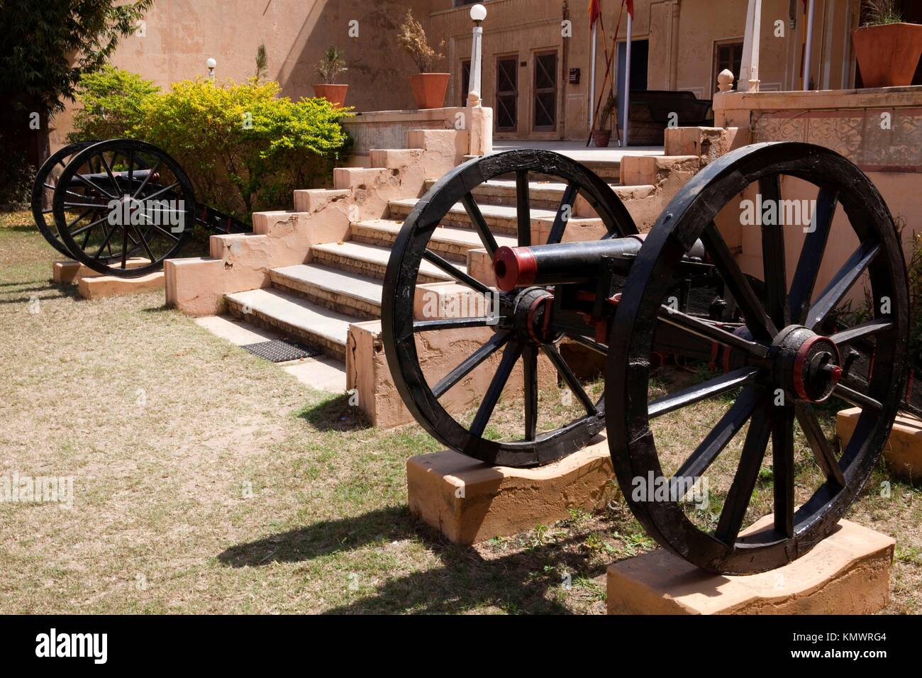 dundlod fort in rajasthan state in india - Stock Image