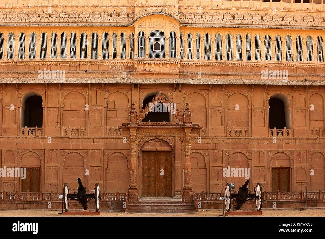 Junagarh Fort in city of Bikaner rajasthan state in india - Stock Image