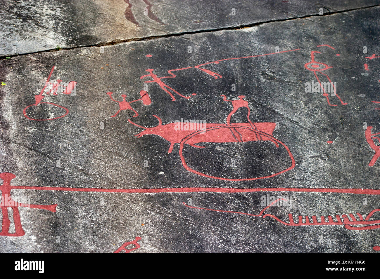 Tanum rock carving stock photos