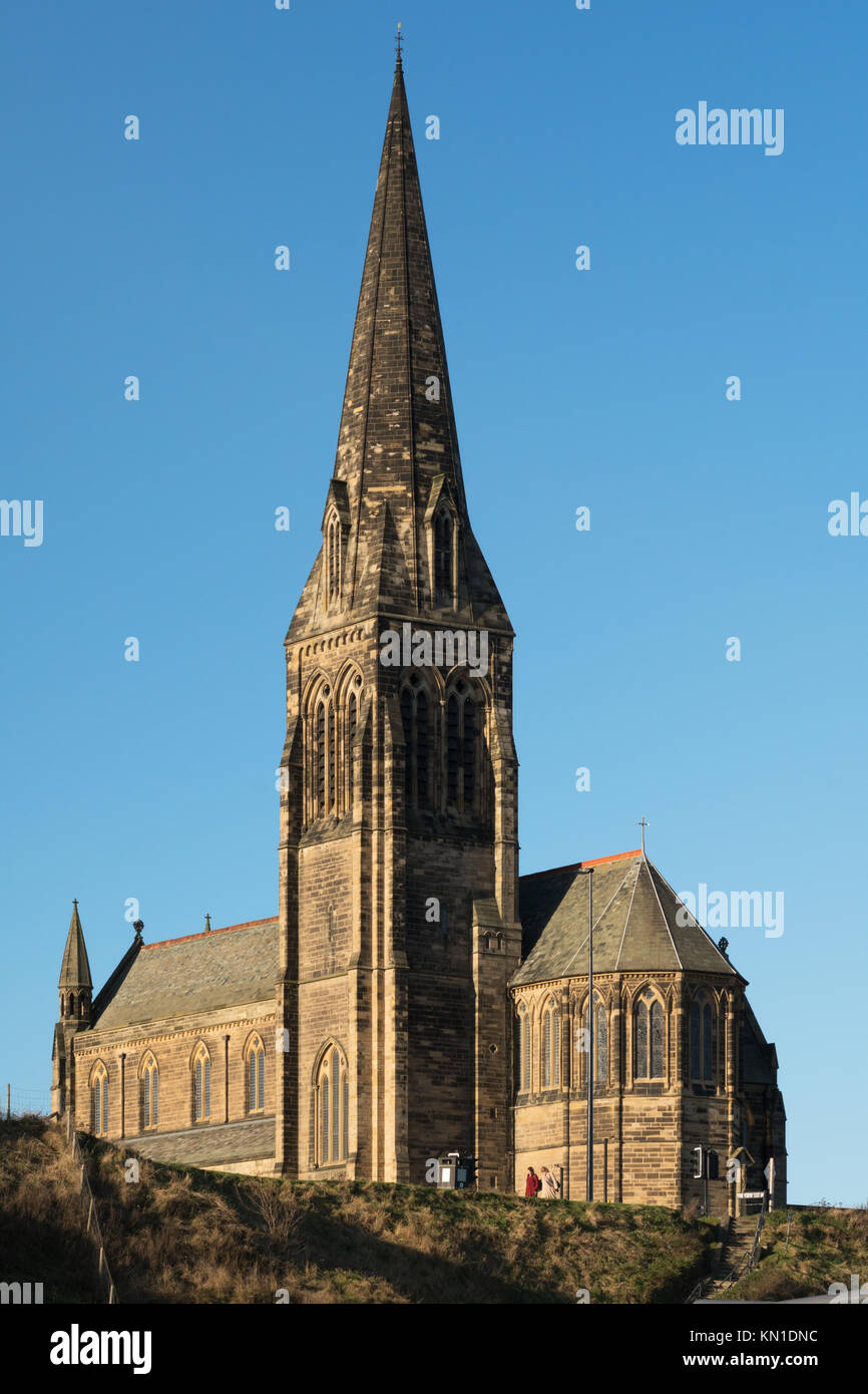 Saint George's Church, Cullercoats, north east England, UK - Stock Image