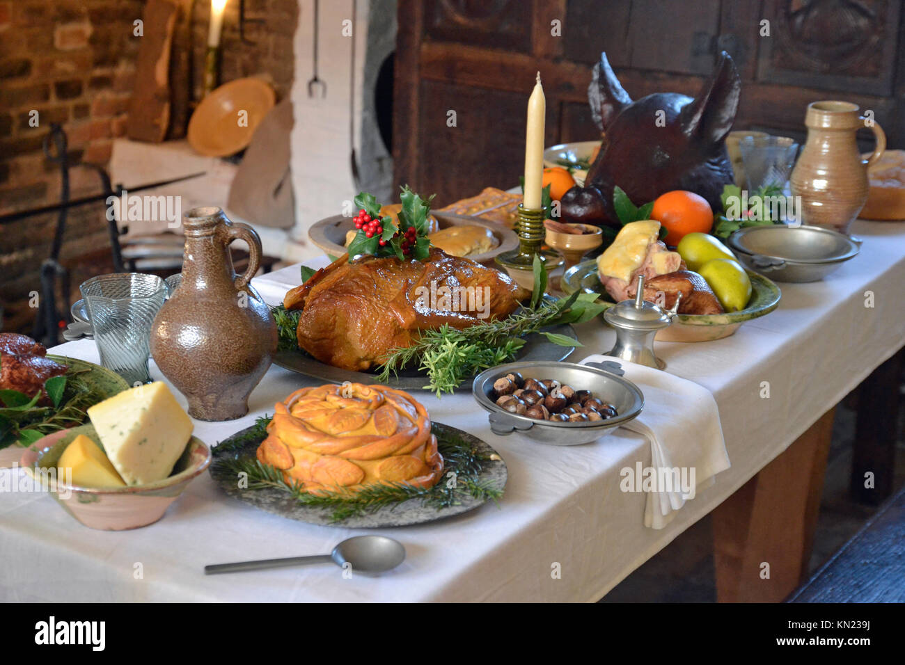 Tudor meal stock photos images alamy