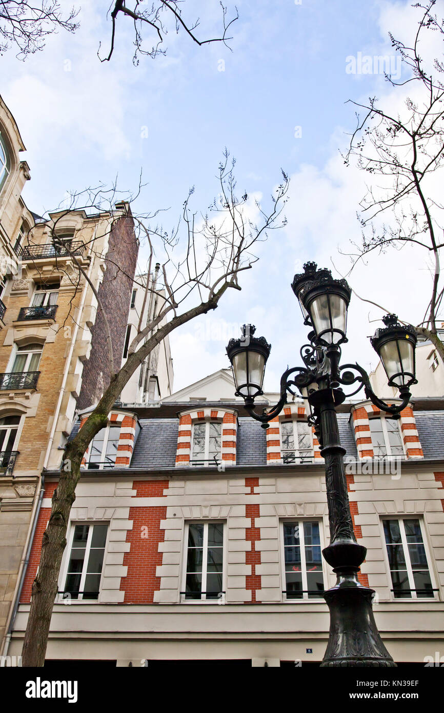 The place de Furstenberg, where Delacroix decided to live, is famous as one of the most charming squares in Paris. - Stock Image