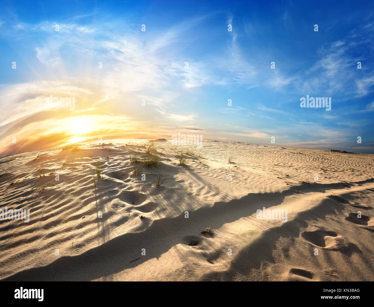 Footprints Sand Sunset Stock Photos & Footprints Sand ...