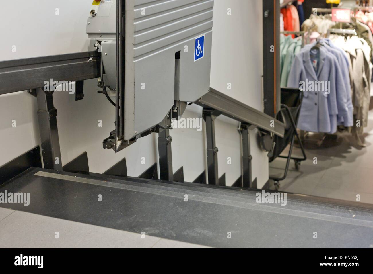 Going up stairs home stock photos going up stairs home for 2 story wheelchair lift