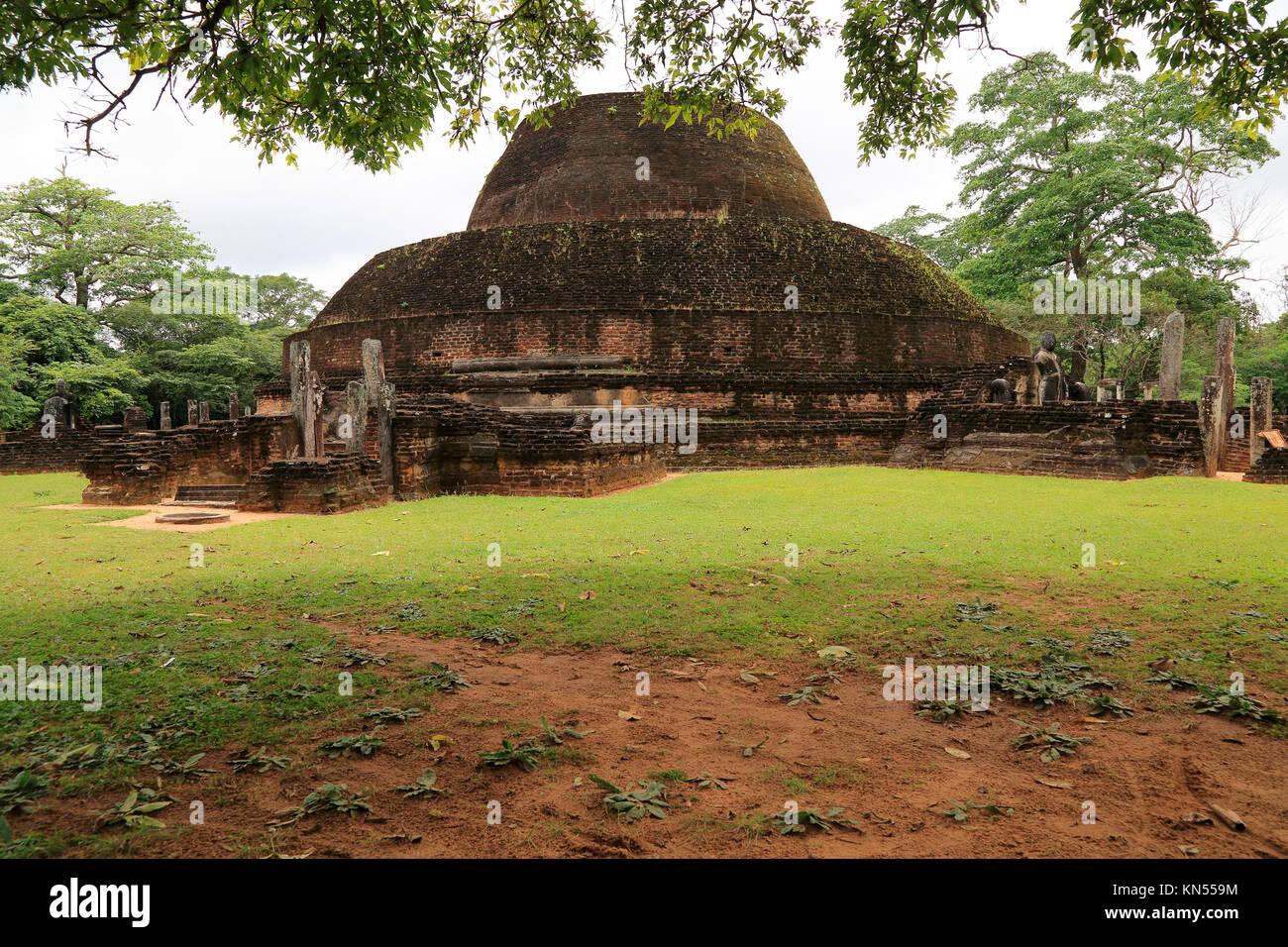 Pabula Vihara temple, UNESCO World Heritage Site, the ancient city of Polonnaruwa, Sri Lanka, Asia - Stock Image
