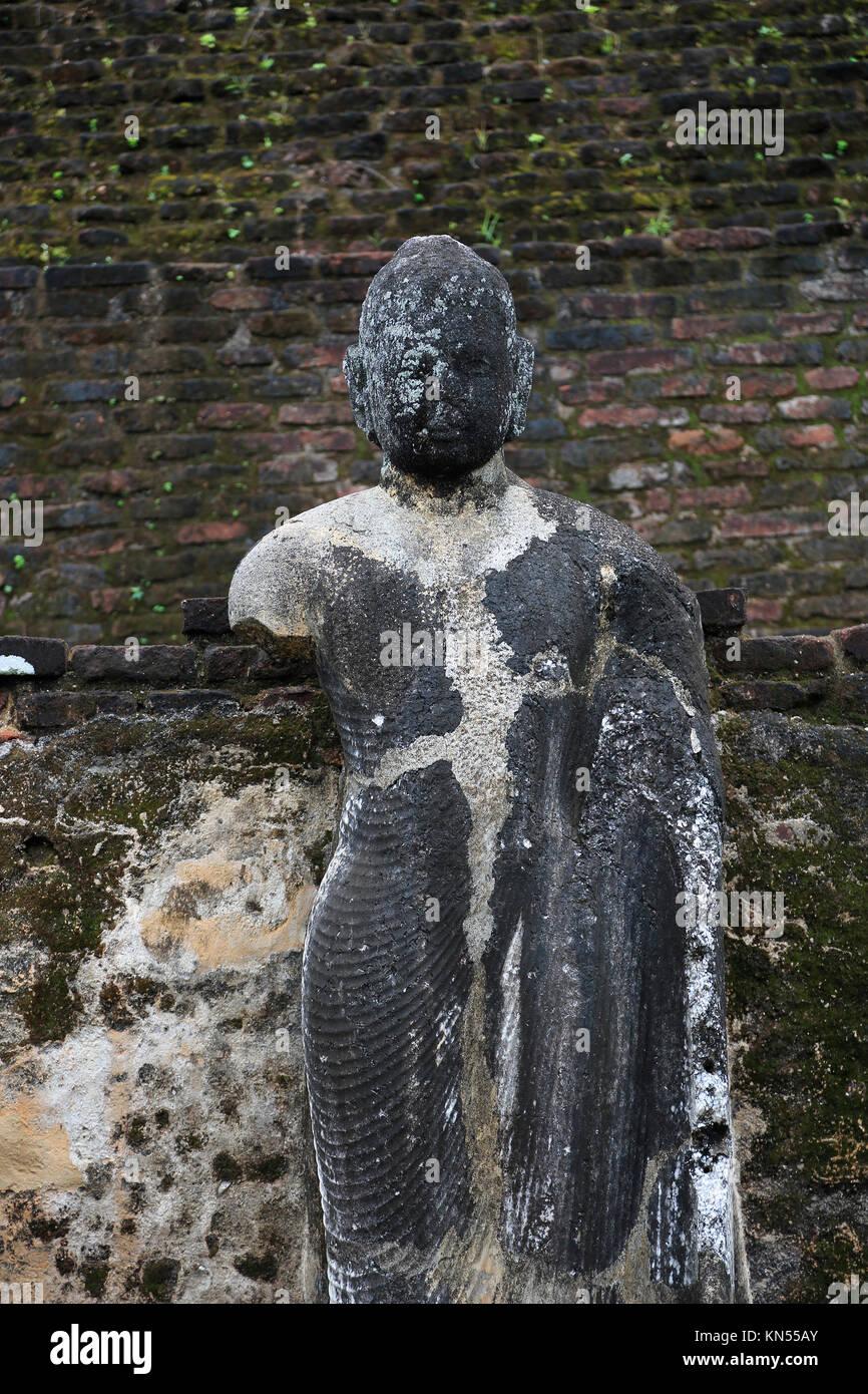 Pabula Vihara temple, UNESCO World Heritage Site, the ancient city of Polonnaruwa, Sri Lanka, Asia Buddha statue - Stock Image
