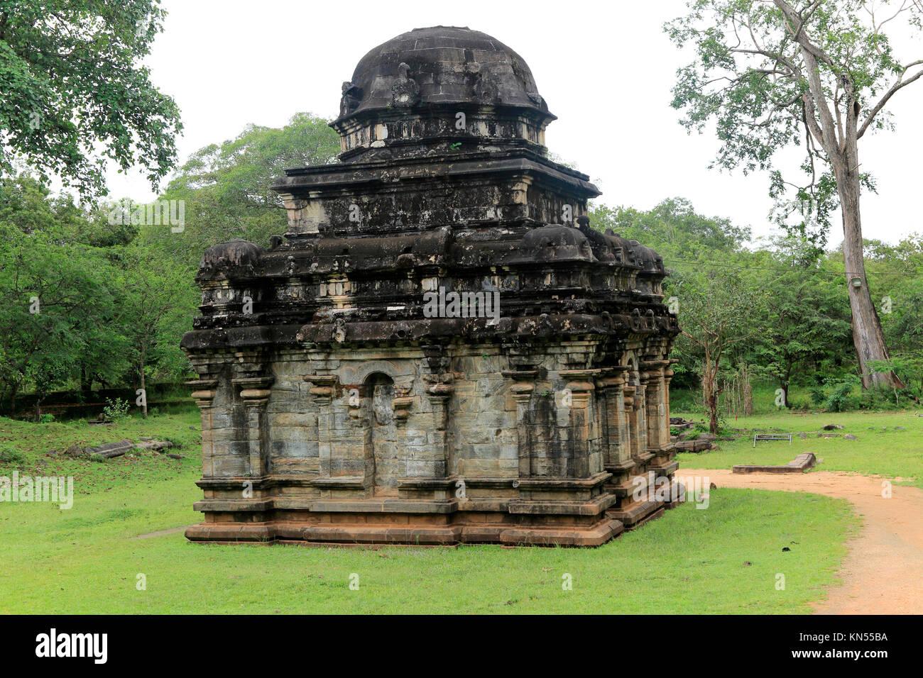 Shiva Devale number 2 temple, UNESCO World Heritage Site, the ancient city of Polonnaruwa, Sri Lanka, Asia - Stock Image