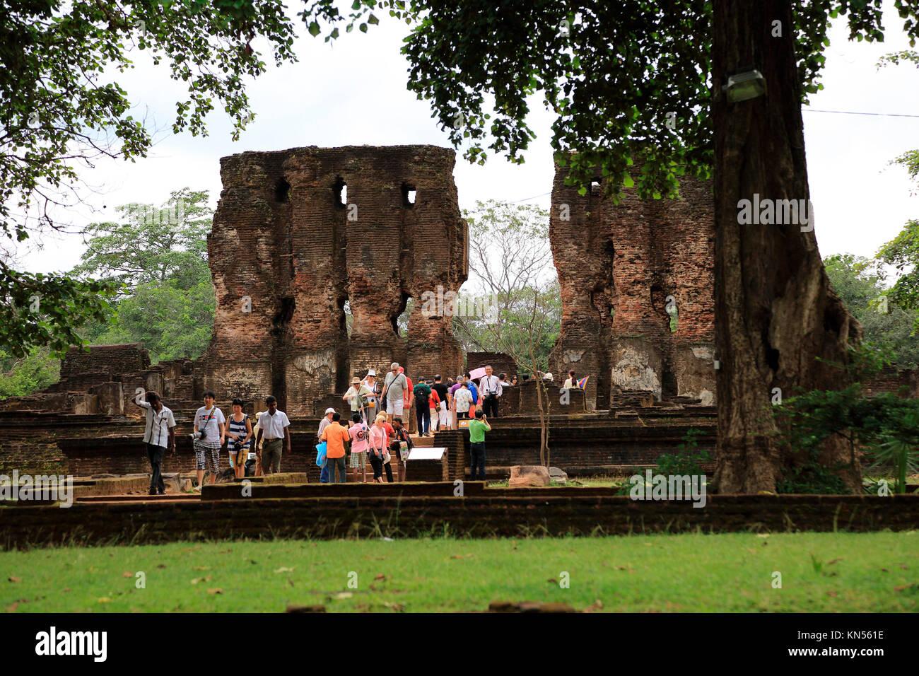 Royal Palace, Citadel, UNESCO World Heritage Site, the ancient city of Polonnaruwa, Sri Lanka, Asia - Stock Image