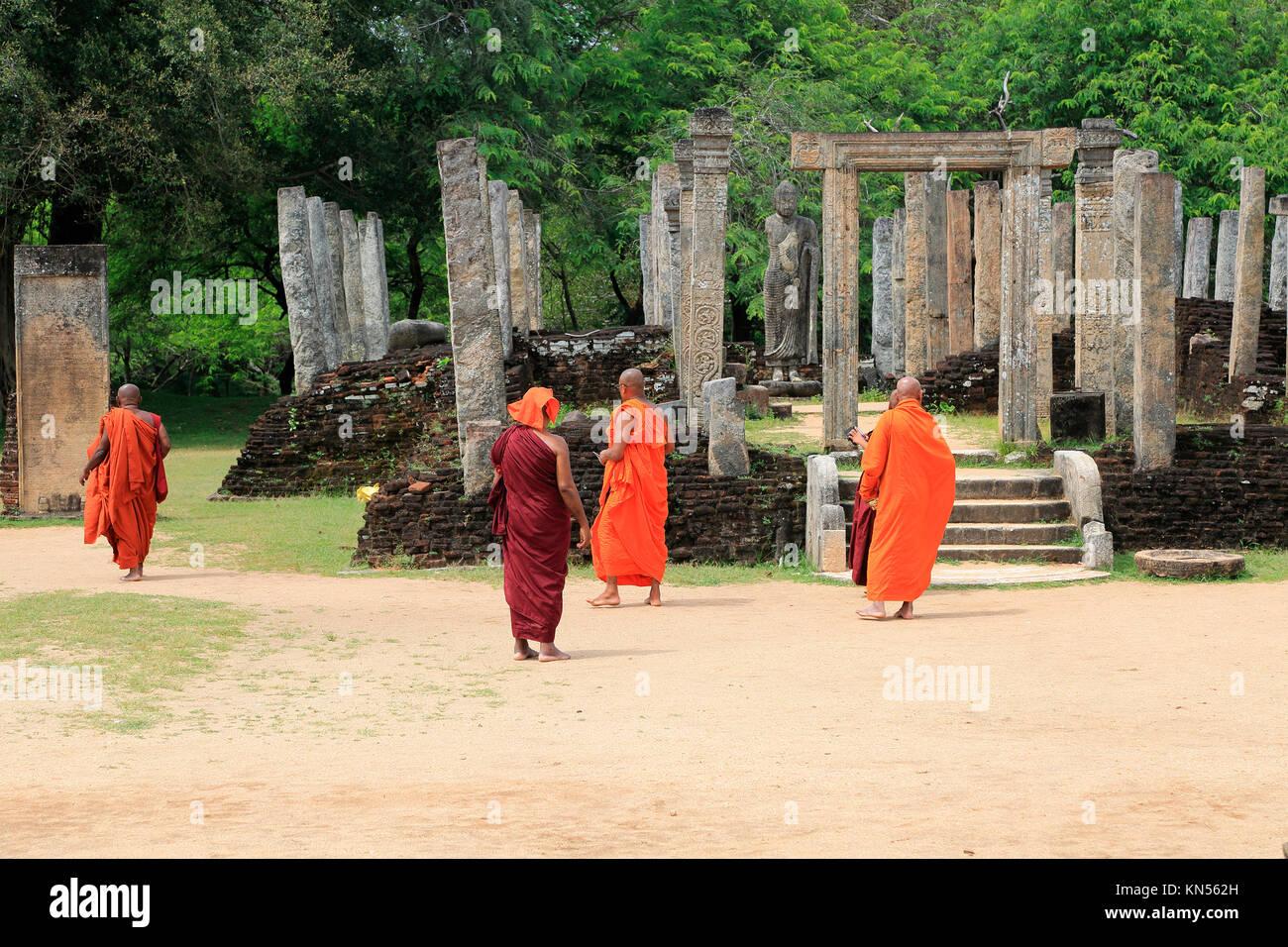 Atadage building in The Quadrangle, UNESCO World Heritage Site, the ancient city of Polonnaruwa, Sri Lanka, Asia - Stock Image