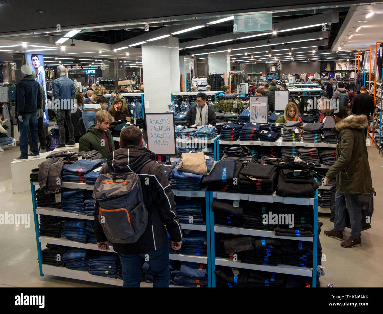 The interior of Primark in Oxford Street, London - Stock Image