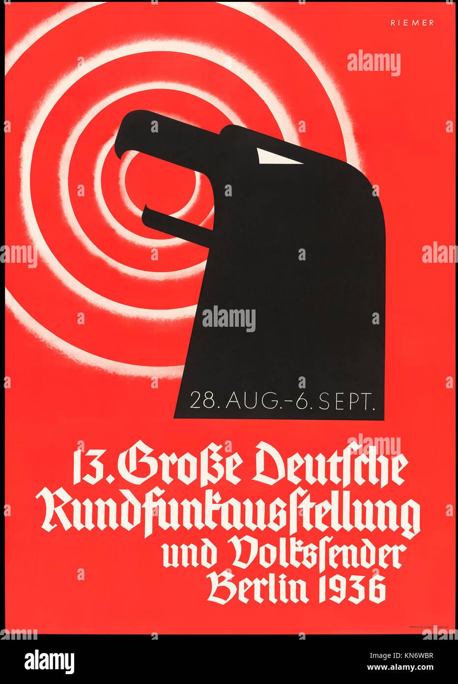 """""""13 Grosse deutsche Rundfunkausstellung und Volkssender Berlin 1936"""" (The 13th German Broadcasting Exhibition and - Stock Image"""
