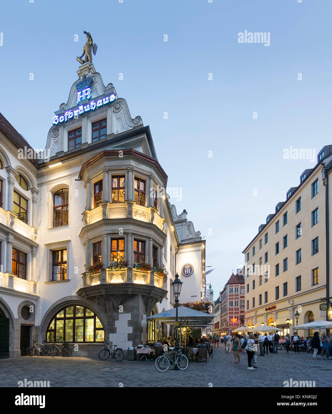 Hofbraeuhaus in Munich, Germany - Stock Image