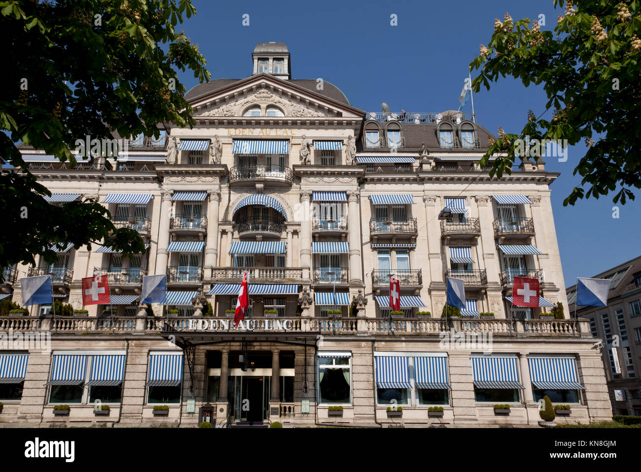 Hotel Eden au Lac, near Zurich lake, Zurich, Switzerland - Stock Image