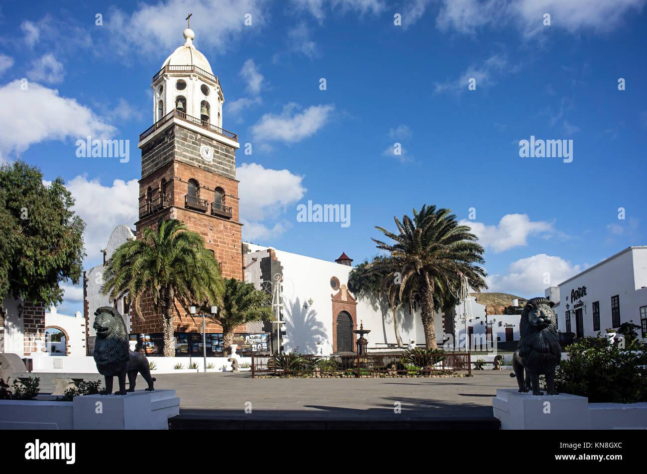 Nuestra Senora de Guadalupe church,   Teguise,   Lanzarote, Canary Islands, Spain - Stock Image