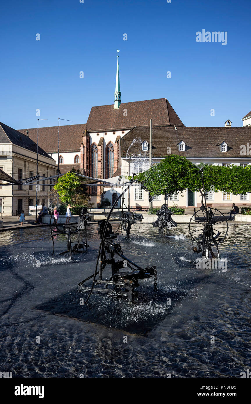 Tinguely Fountain, Basel,  Switzerland - Stock Image