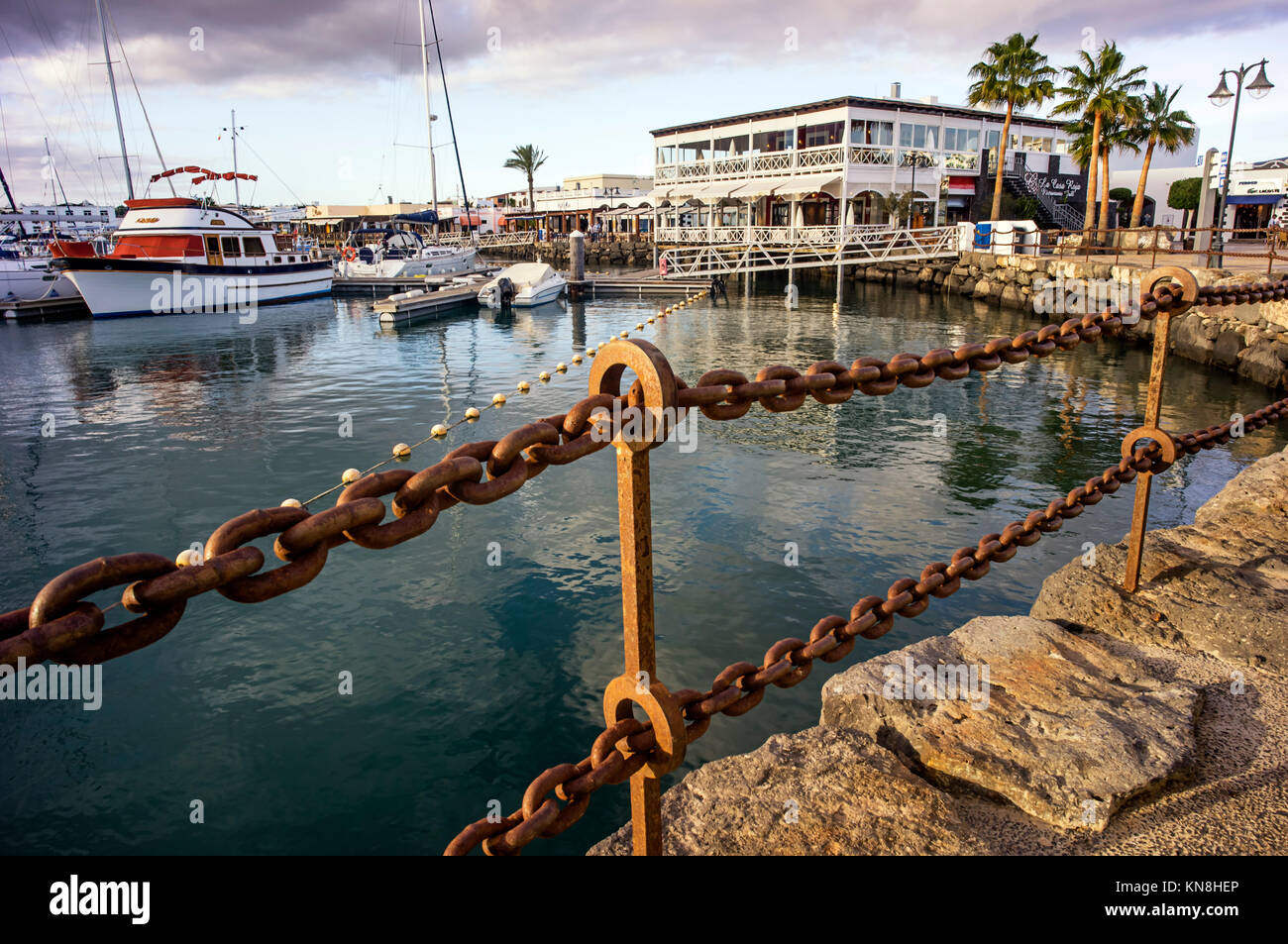Marina Rincon, Playa Blanca, Lanzarote, Canary Islands, Spain - Stock Image