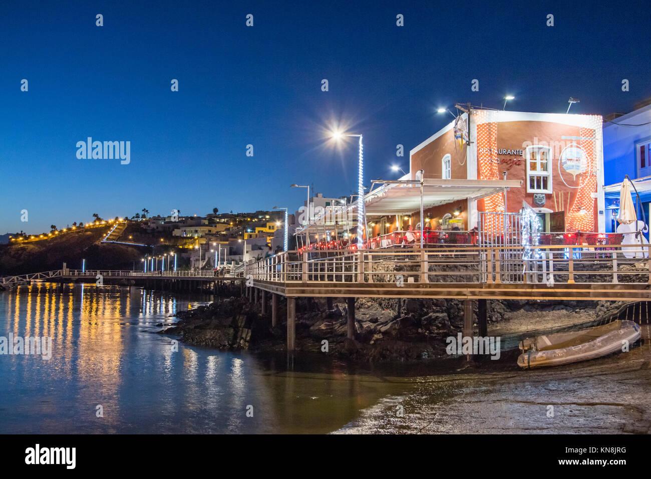 Restaurant Casa Roja, Puerto del Carmen, Lanzarote, Canary Islands, Spain - Stock Image