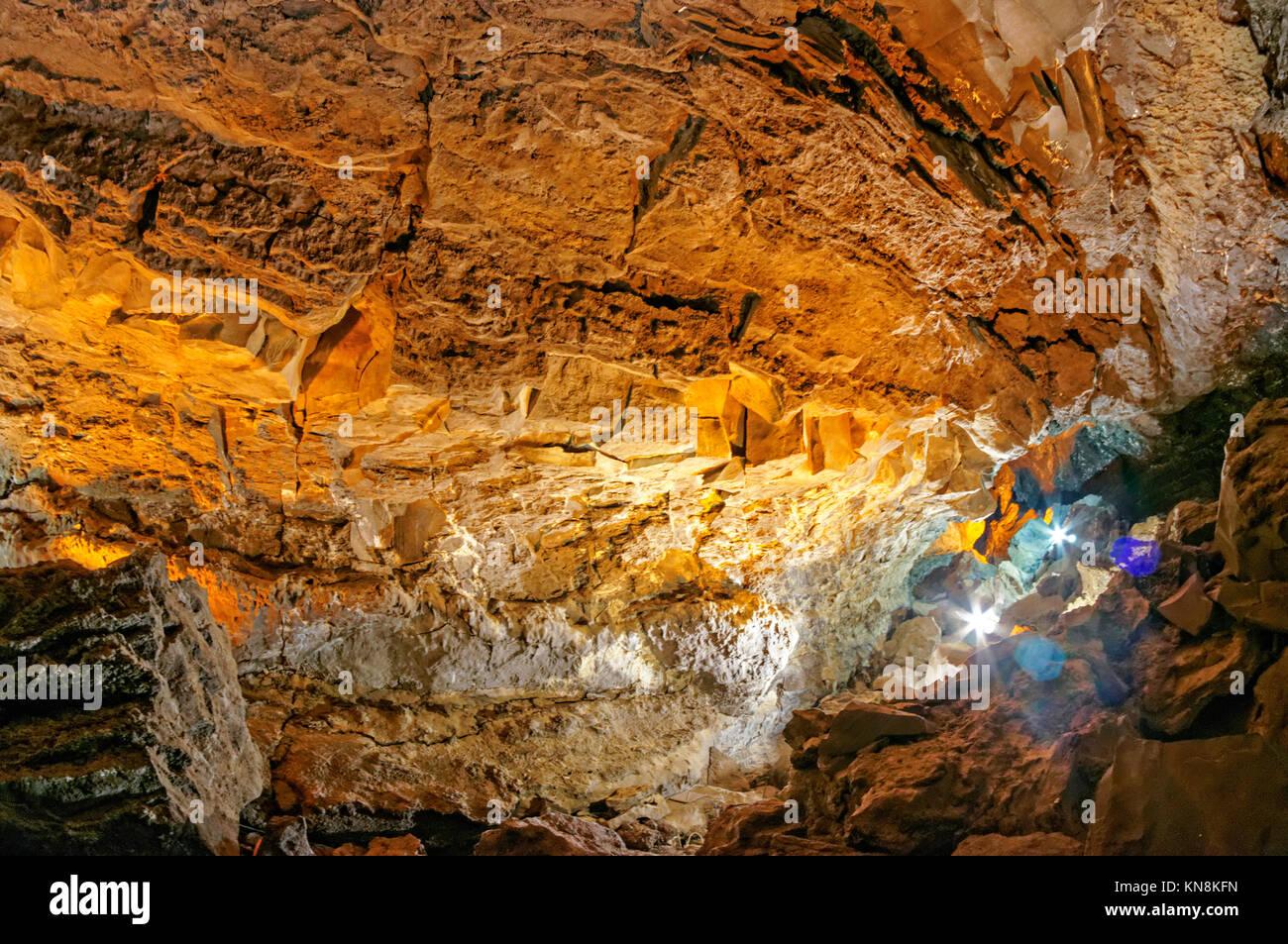 La Cueva de los Verdes, Lanzarote, Canary Islands, Spain - Stock Image