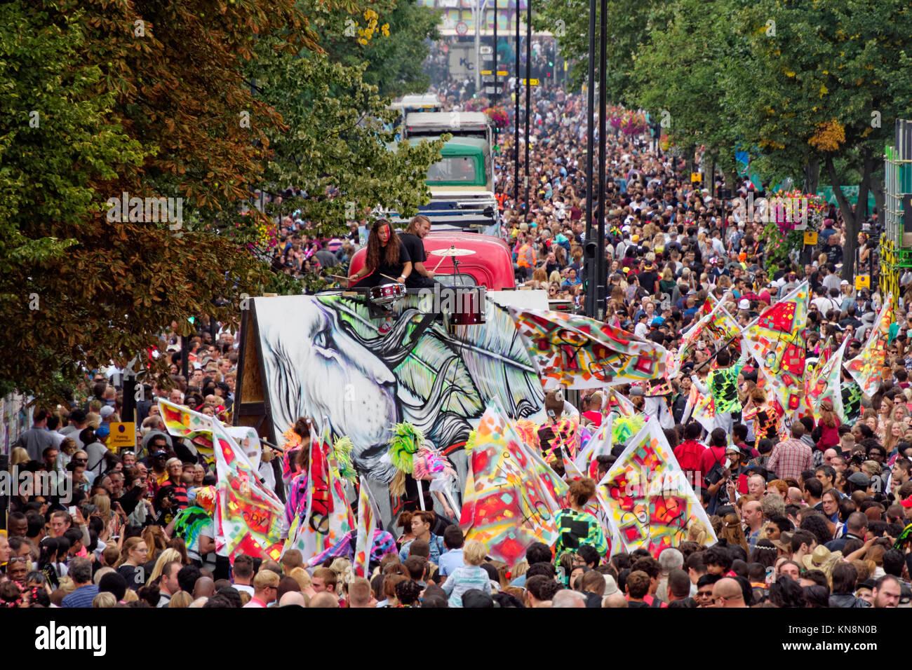 Notting Hill Carnival, London, England - Stock Image