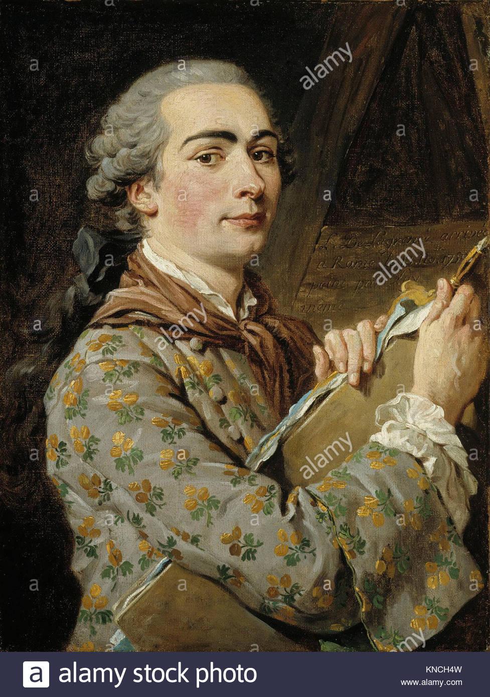 Louis Jean Francois Lagrenée Self-portrait  (1725 – 1805) - Stock Image