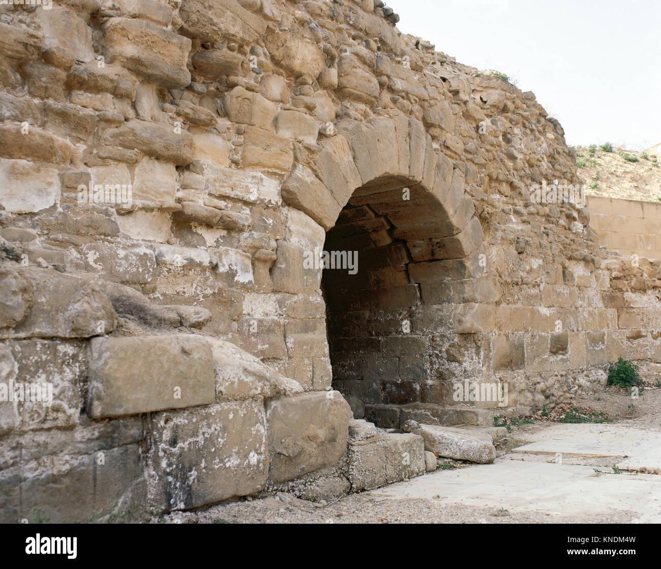 Spain. La Rioja. Alfaro. Roman Nyphaeum (ancinet Gracurris). Ruins. - Stock Image
