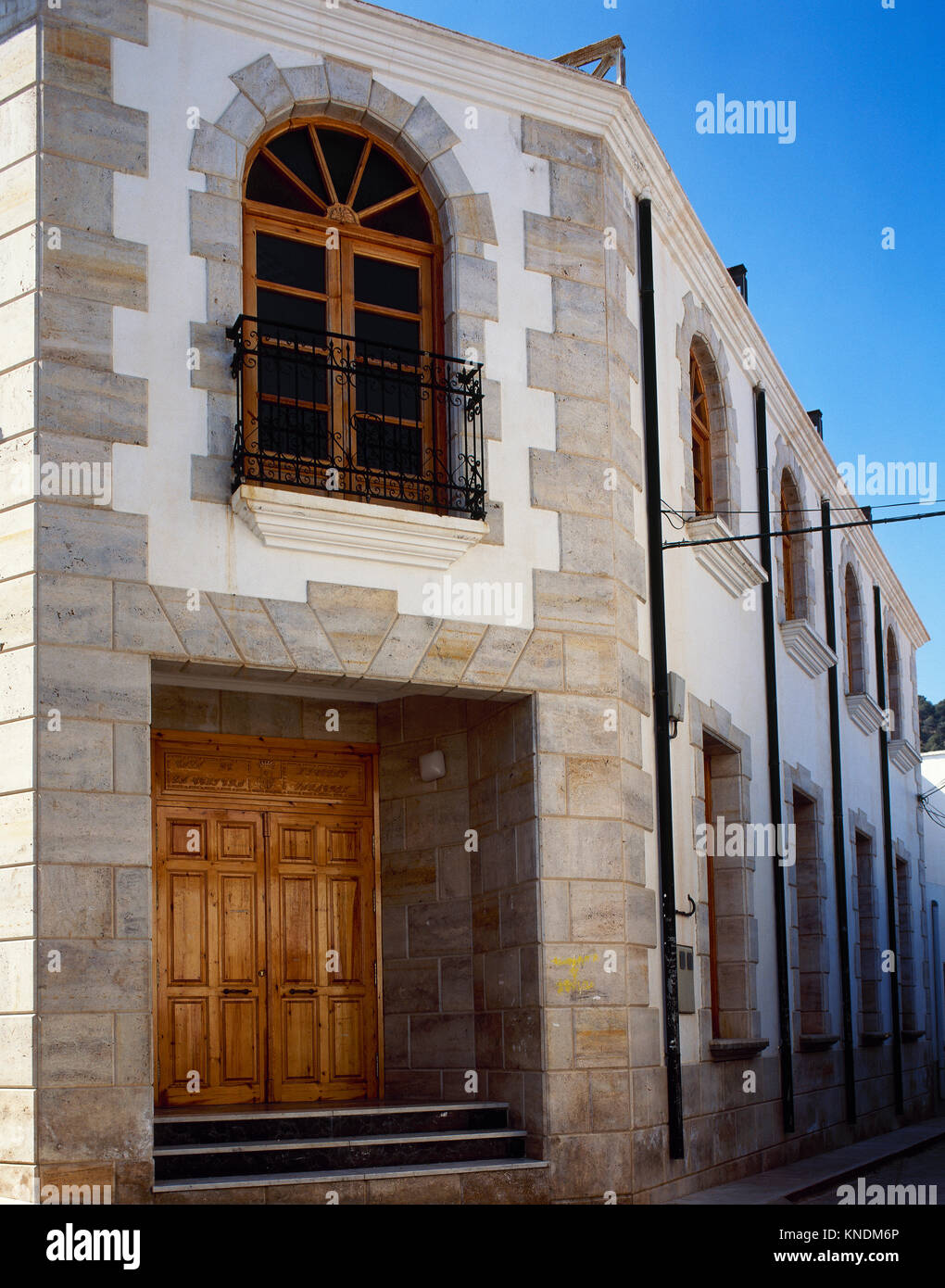 Nicolas Salmeron (1838-1908). Spanish politician. President of First Spanish Republic. Birthplace house. Alhama - Stock Image