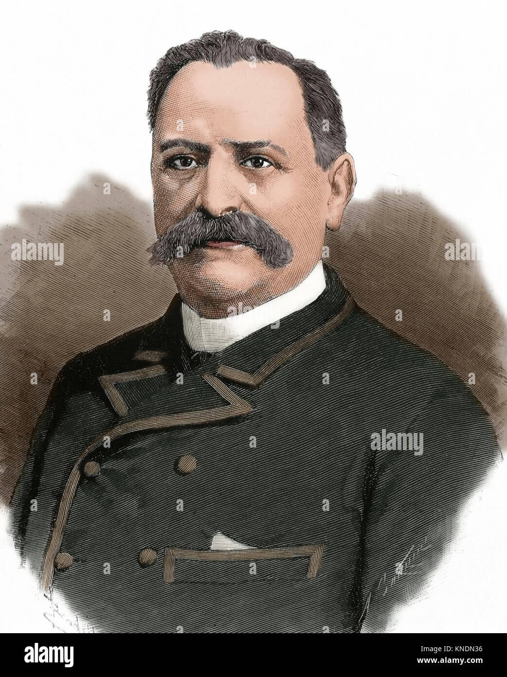 Manuel Pedregal Cañedo (1831-1896). Jurist and Spanish politician, Minister for Finance during the First Spanish - Stock Image