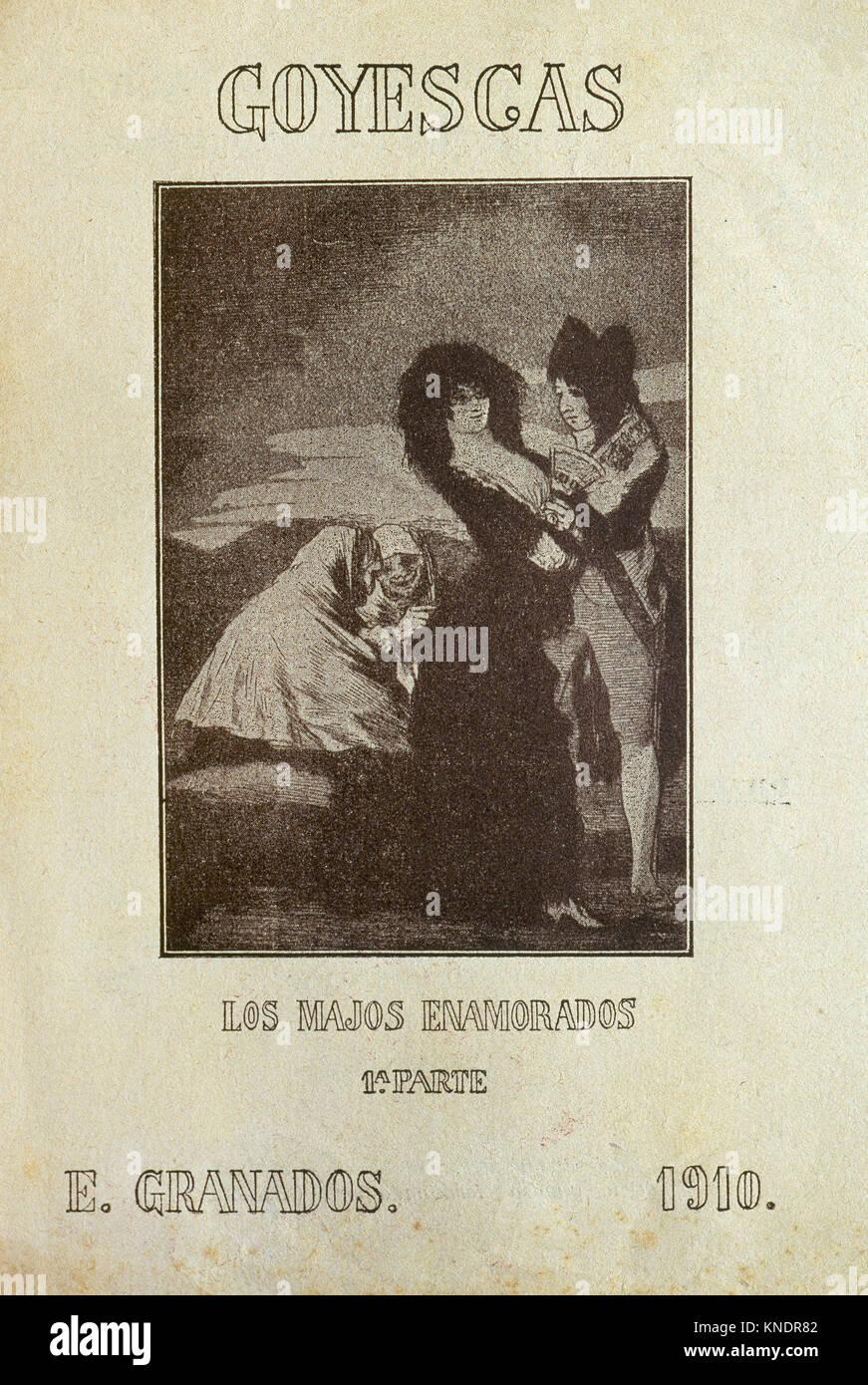 Enrique Granados (1867-1916). Composer and Spanish pianist. Goyescas. Concert program. Los Majos Enamorados (The - Stock Image