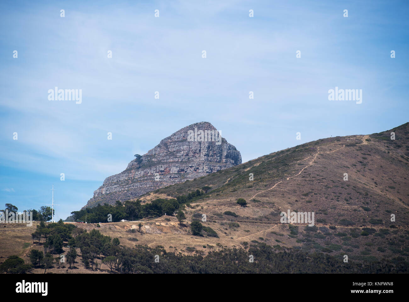 View of Lion's Head and Signal Hill in Cape Town, South Africa - Stock Image
