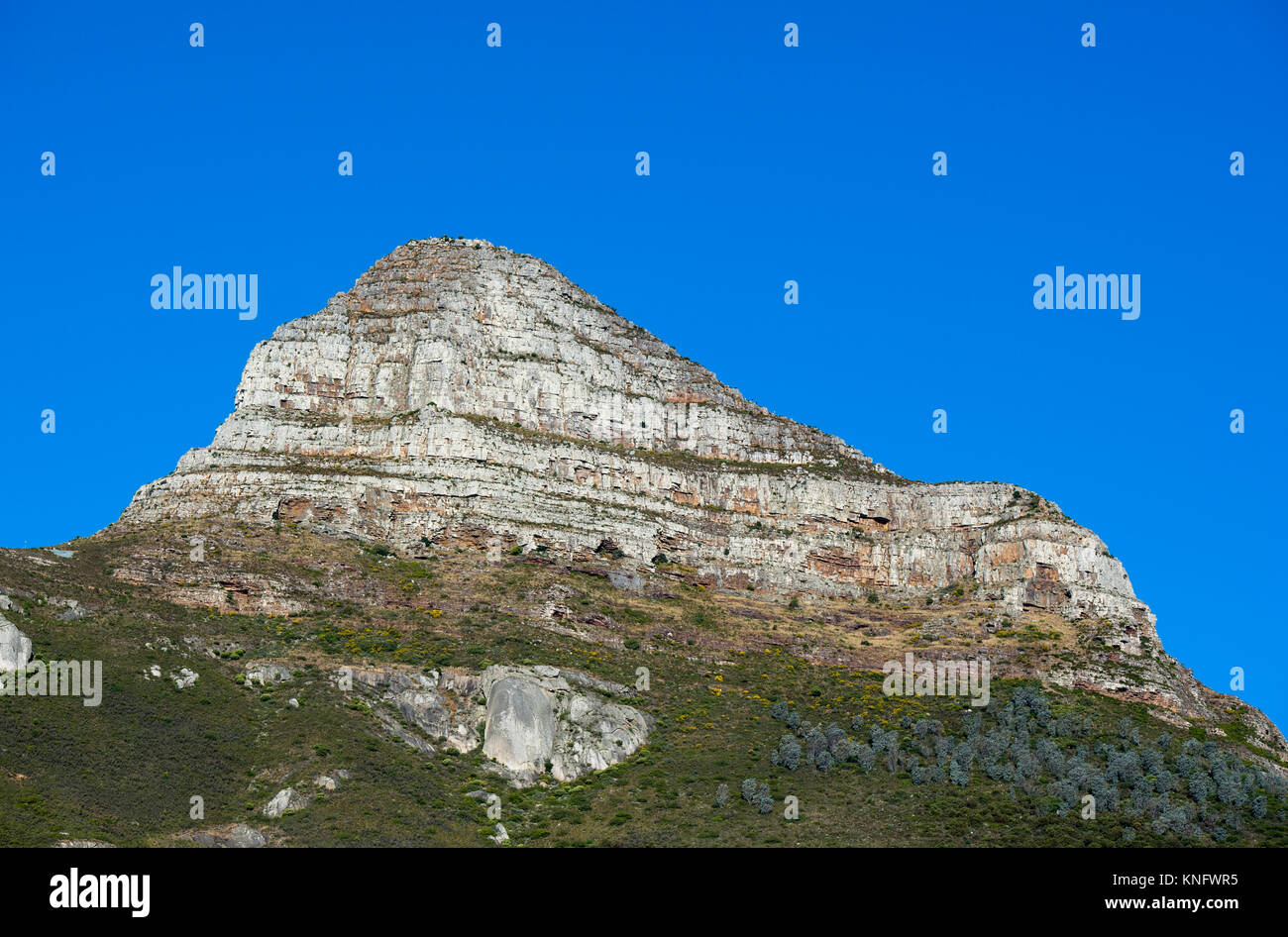 The rock formation known as Lion's Head in Cape Town, South Africa - Stock Image