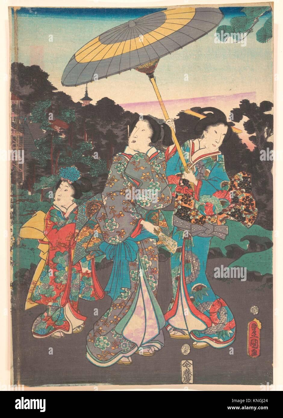 Print. Artist: Utagawa Kunisada (Japanese, 1786-1865); Period: Edo period (1615-1868); Culture: Japan; Medium: Polychrome - Stock Image