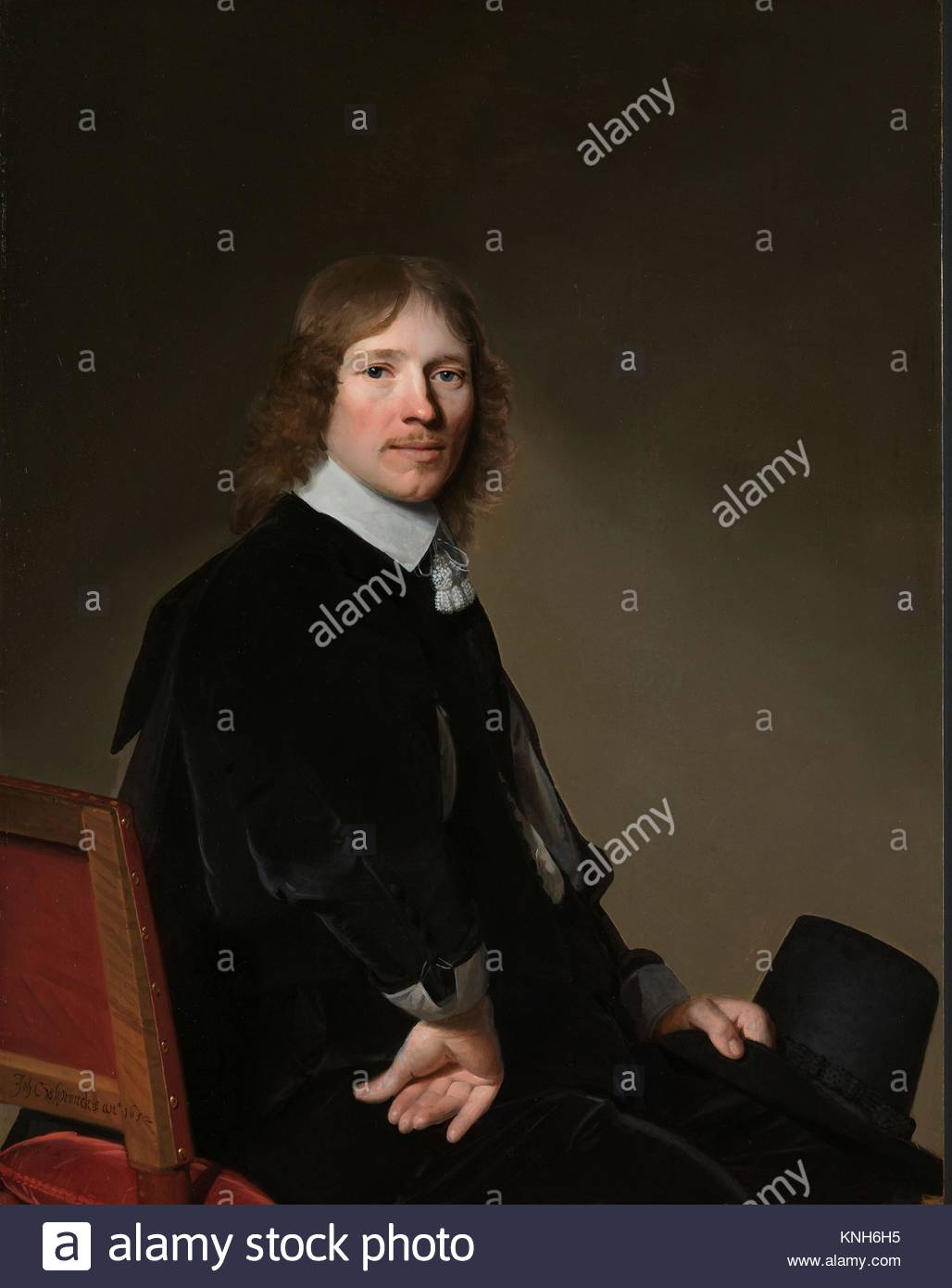 Portrait of Eduard Wallis, Johannes Cornelisz. Verspronck, 1652  Johannes Cornelisz. Verspronck, 1641 - Stock Image