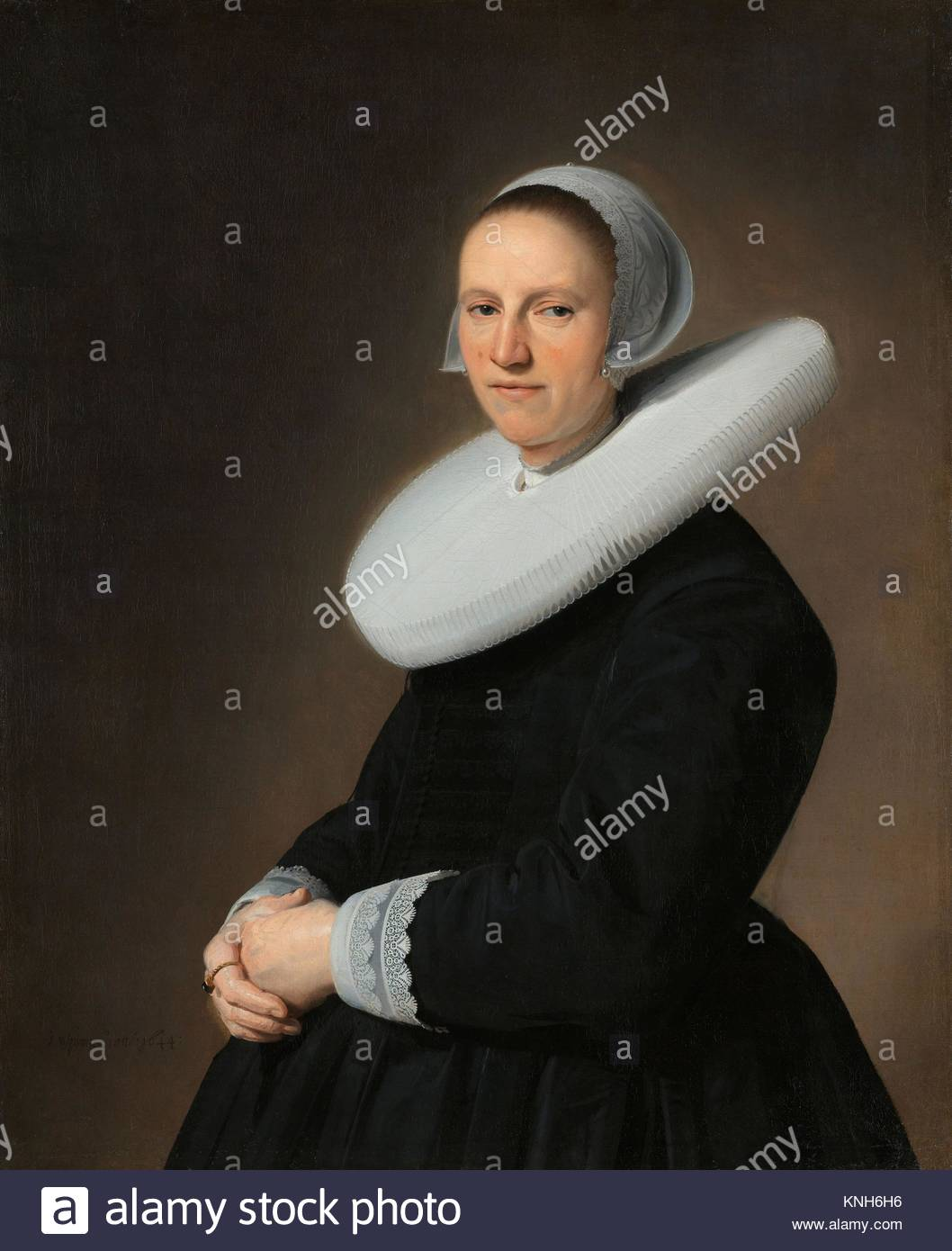 Portrait of Adriana Croes,    Johannes Cornelisz. Verspronck, 1644 - Stock Image