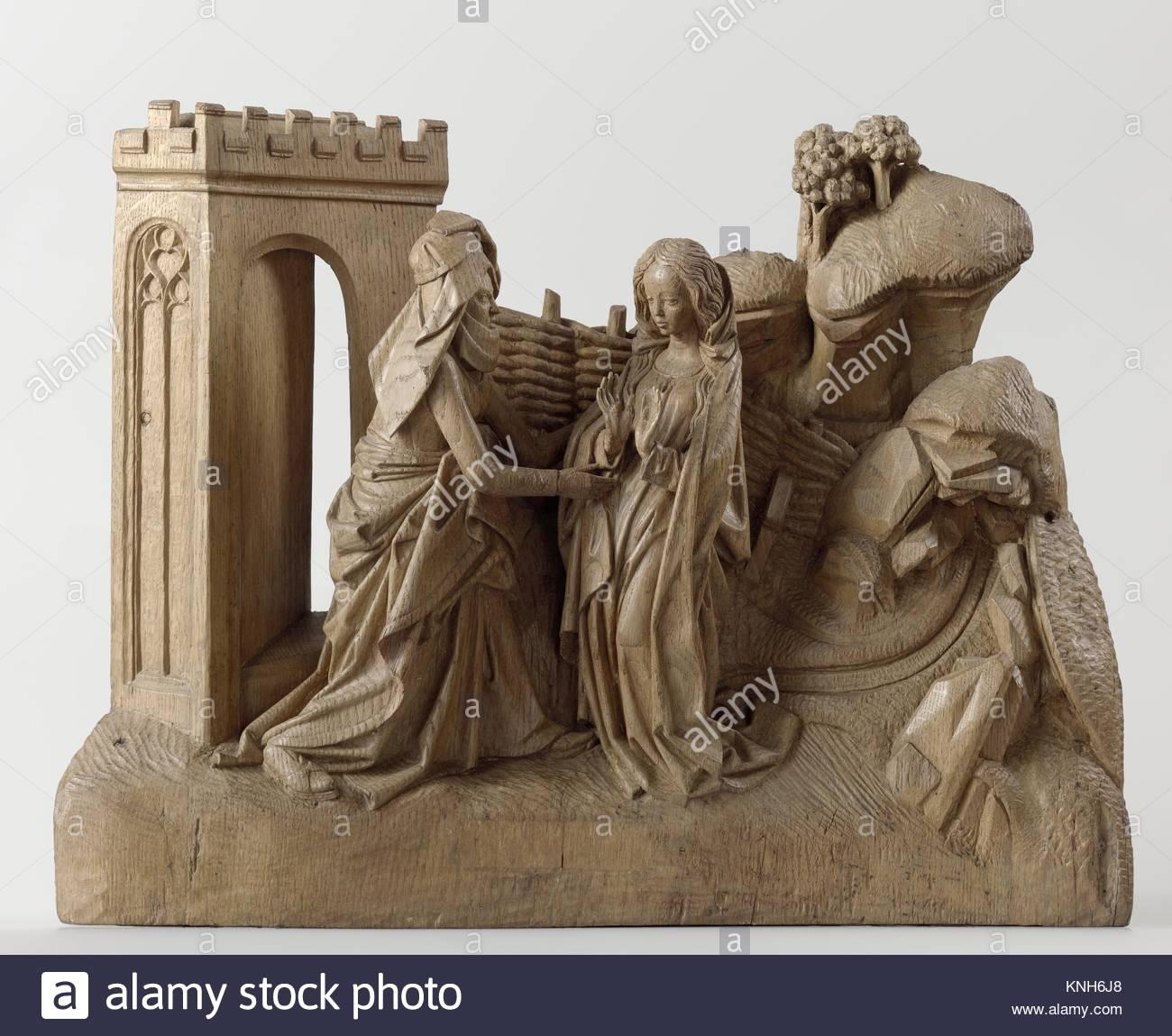The Visitation, Adriaen van Wesel, c. 1475 - c. 1477 - Stock Image