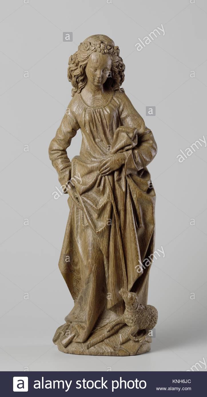 Saint Agnes , Adriaen van Wesel, c. 1470 - c. 1480 - Stock Image