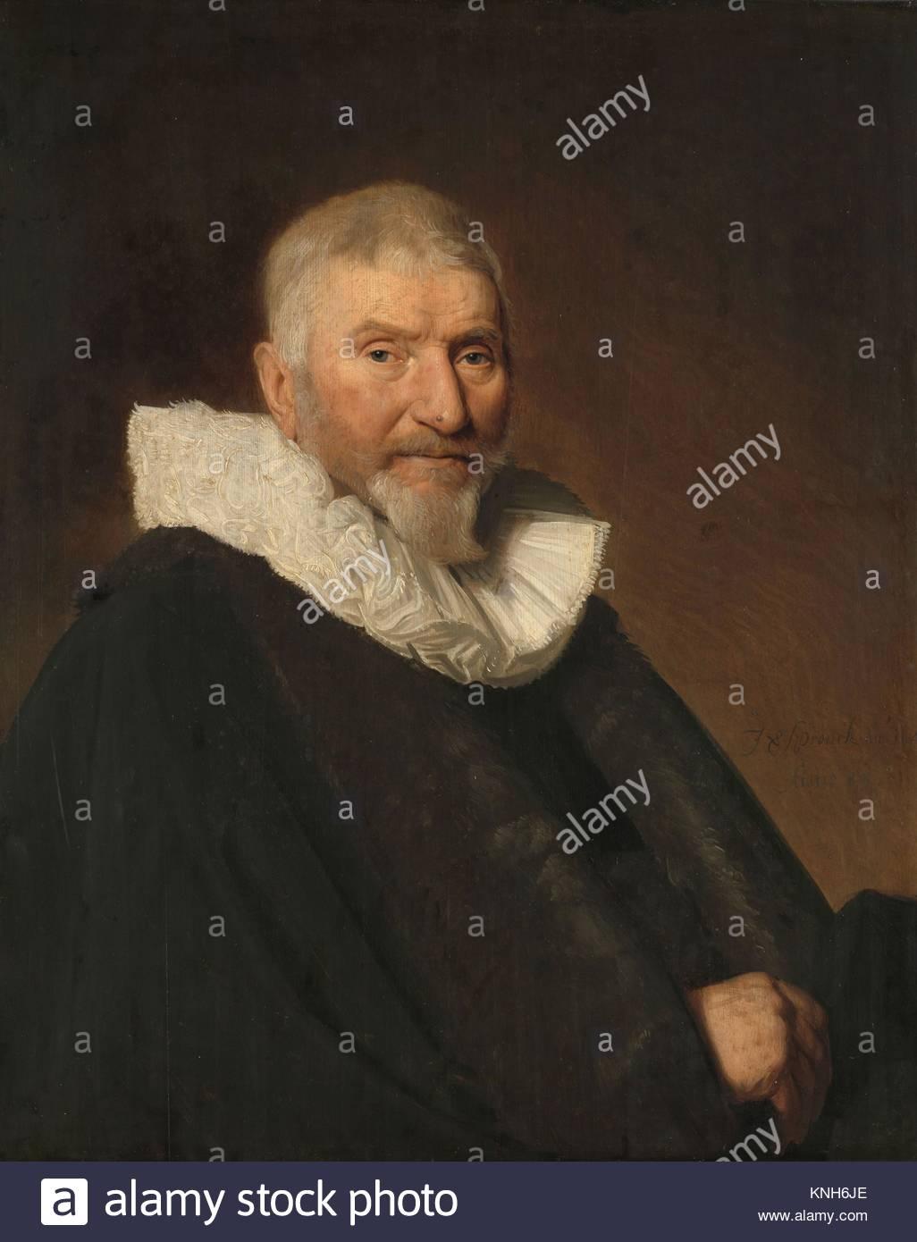 Johan van Schoterbosch (ca. 1564-1654). Councillor and Alderman of Haarlem, Johannes Cornelisz. Verspronck, 1647 - Stock Image