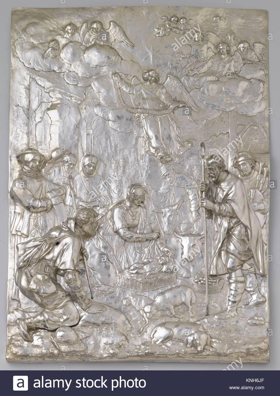 The Adoration of the Shepherds, Paulus Willemsz. van Vianen, 1607 - Stock Image