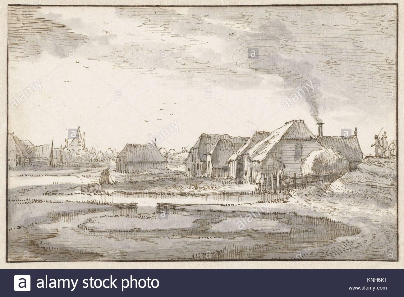 Spaarndammerdijk at de Braakjes  Claes Jansz. Visscher (II), c. 1605 - c. 1615 - Stock Image