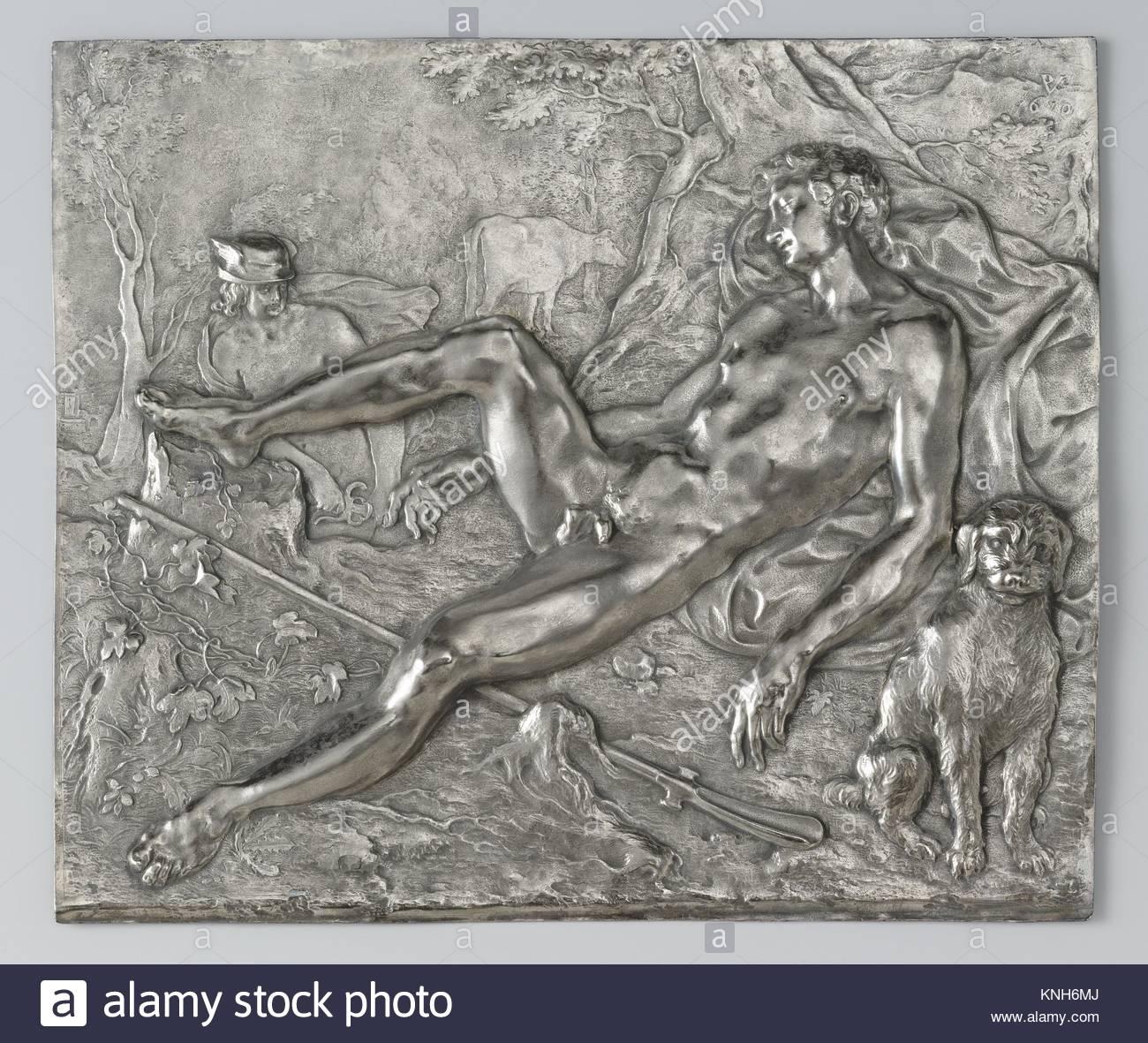 Mercury and the Sleeping Argus Paulus Willemsz. van Vianen, 1610 - Stock Image