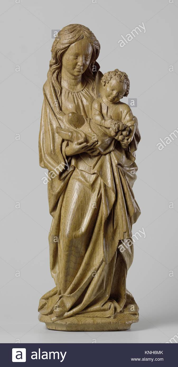 Virgin and Child, Adriaen van Wesel, c. 1470 - c. 1480 oak with traces of polychromy - Stock Image