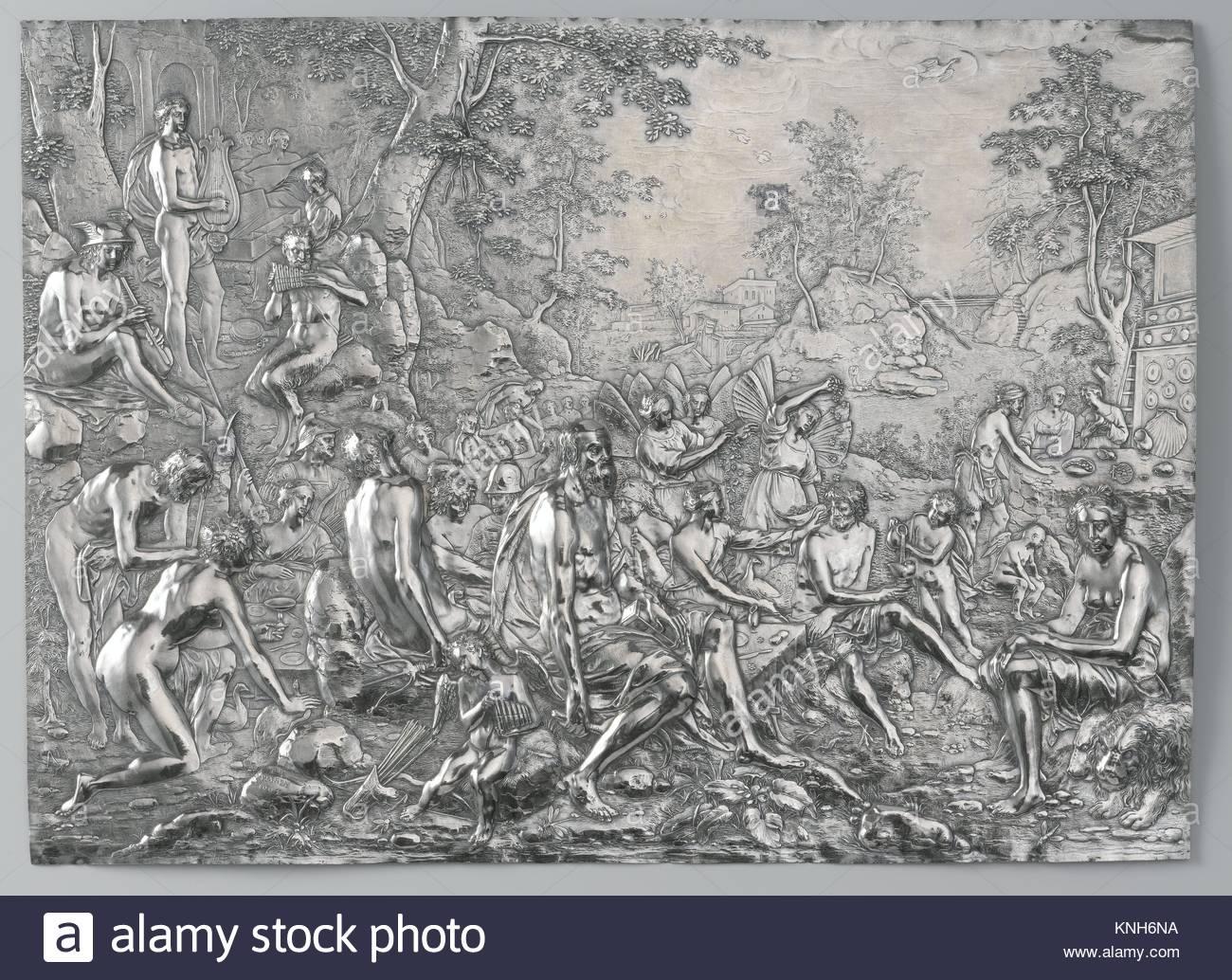 The Feast of the Gods Paulus Willemsz. van Vianen, 1604 - Stock Image