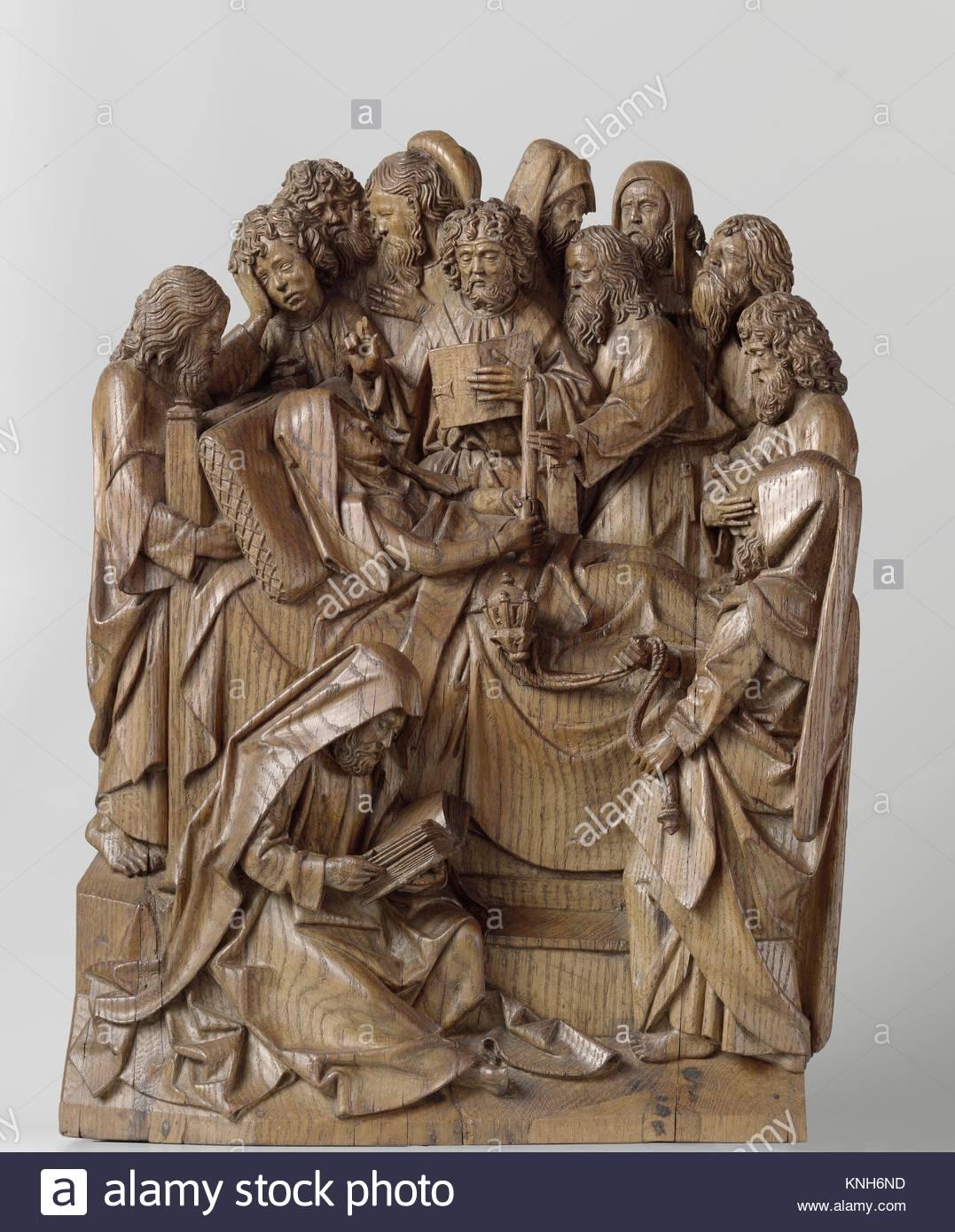 Death of the Virgin, Adriaen van Wesel, c. 1475 - c. 1477 - Stock Image