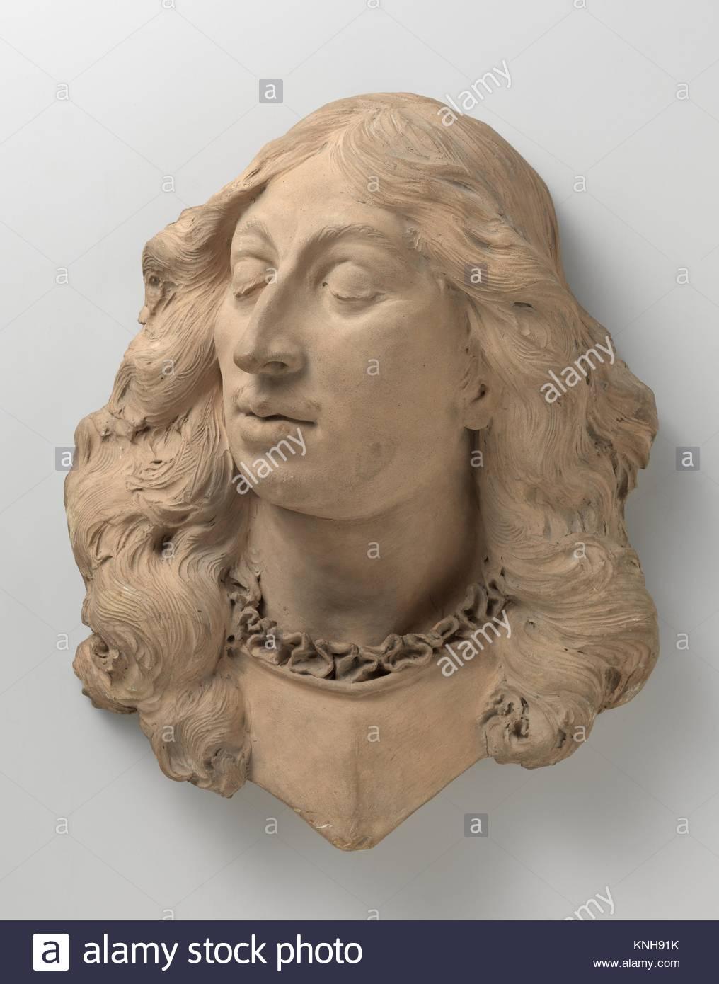 Portrait bust of Baron Willem Joseph van Ghent,  1672 - 1676, sculptor Rombout Verhulst, 1677 - 1681, Rijksmuseum, - Stock Image