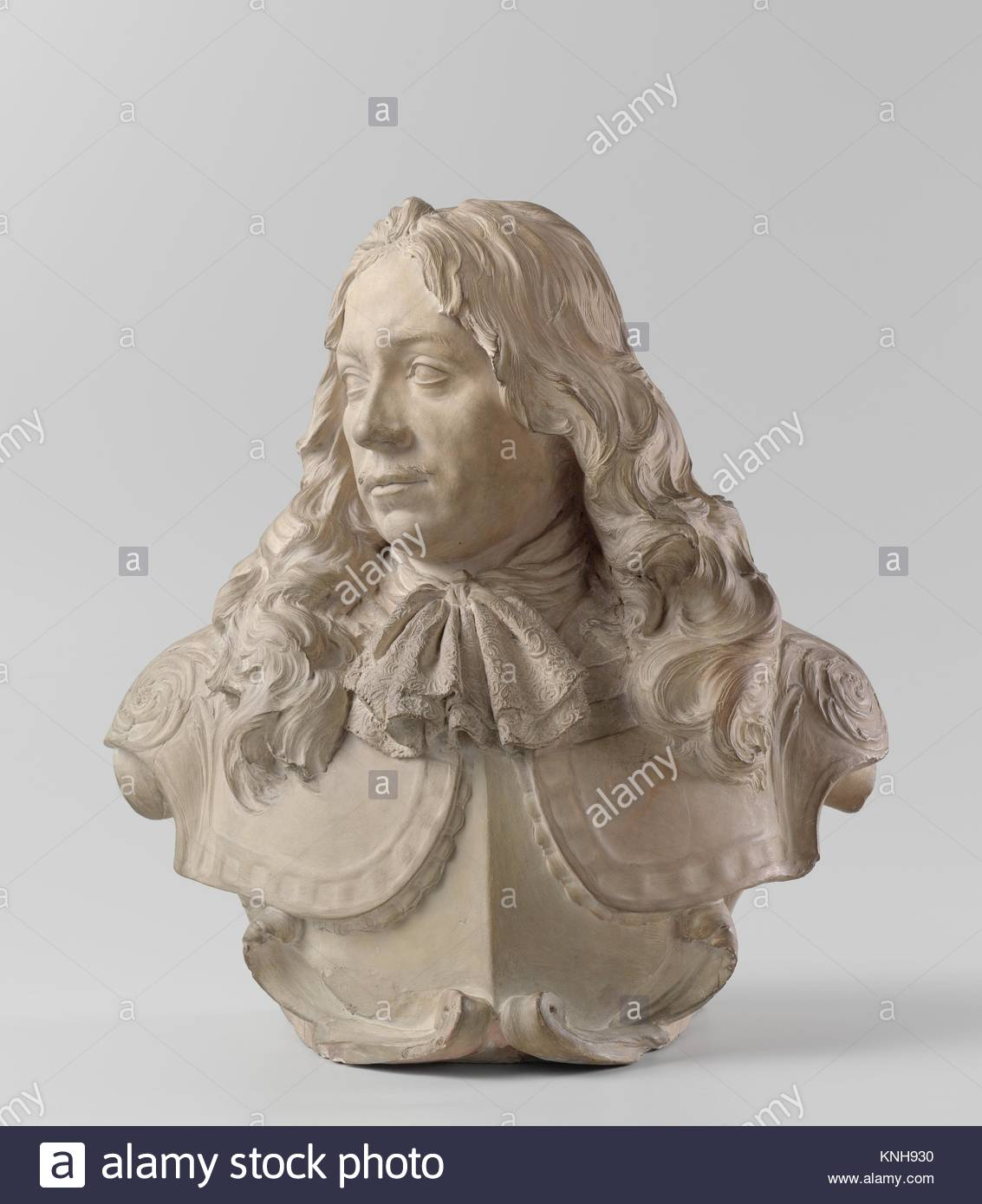 Portrait marble bust Jacob van Reygersbergh, Rombout Verhulst, 1677 - 1681, Rijksmuseum, Netherlands - Stock Image