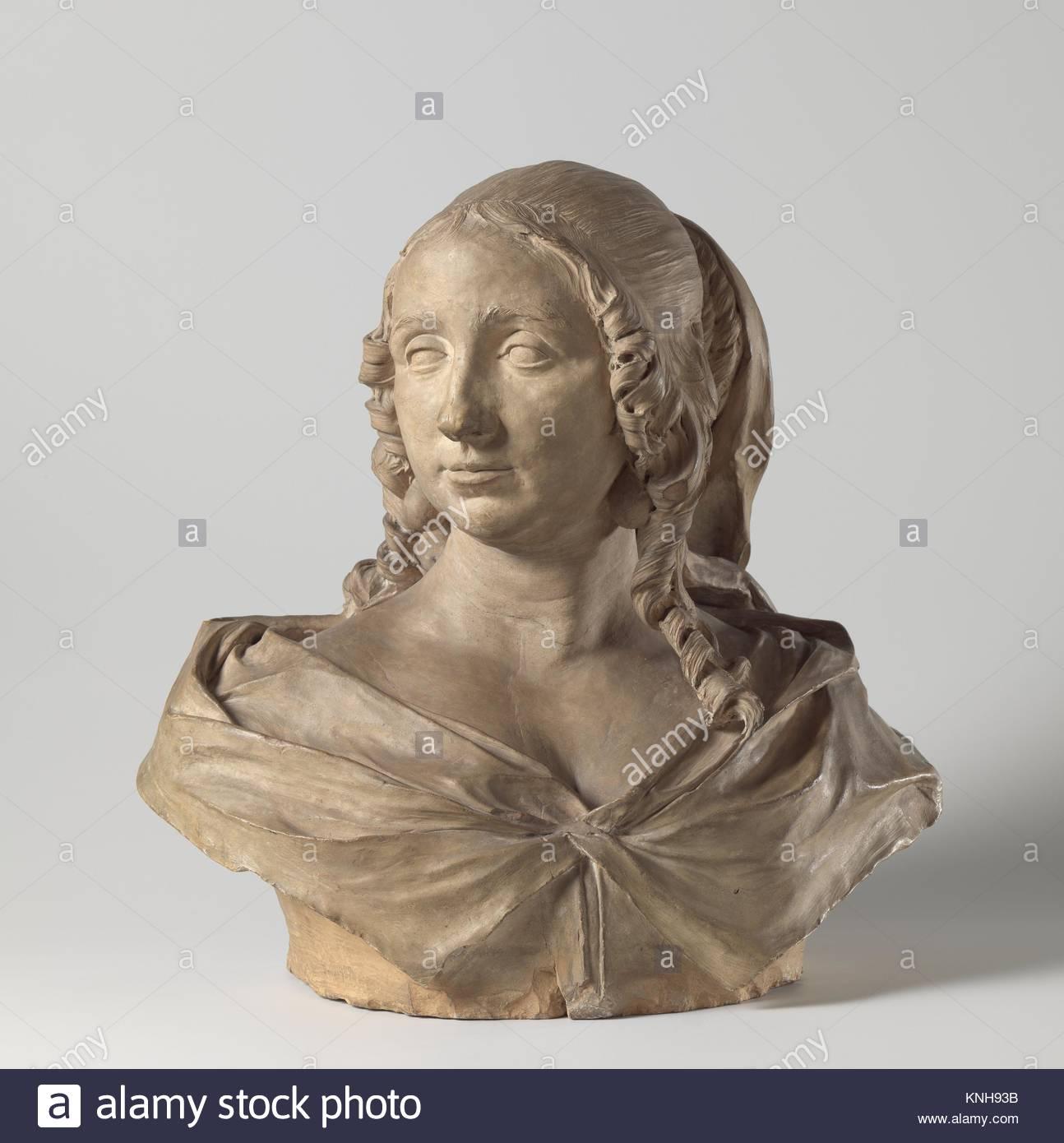 Portrait of Maria van Reygersbergh (1632–1674), 1663 sculptor Rombout Verhulst, 1677 - 1681, Rijksmuseum, Netherlands - Stock Image