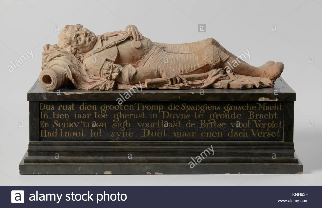 Design for the Funeral Monument of Maerten Harpertsz Tromp, Rombout Verhulst, c. 1654 - c. 1655, sculptor Rombout - Stock Image