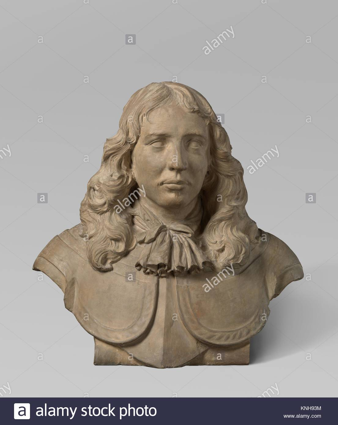 Portrait bust of Baron Willem van Liere, 1662 sculptor Rombout Verhulst, 1677 - 1681, Rijksmuseum, Netherlands - Stock Image